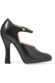 Leather Mary Jane pumps
