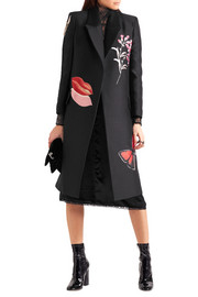 Alexander McQueen Oversized embroidered silk-blend jacquard coat