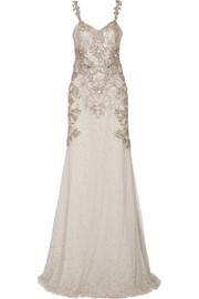 Alexander McQueen Embellished tulle gown