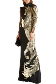Alexander McQueen Sequin-embellished tulle gown