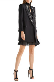 Alexander McQueen Ruffled metallic stretch silk-blend mini dress