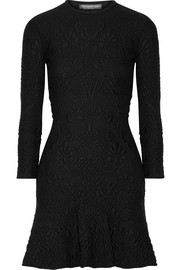 Alexander McQueen Wool-blend cloqué mini dress