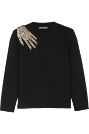 Alexander McQueen Appliquéd wool sweater