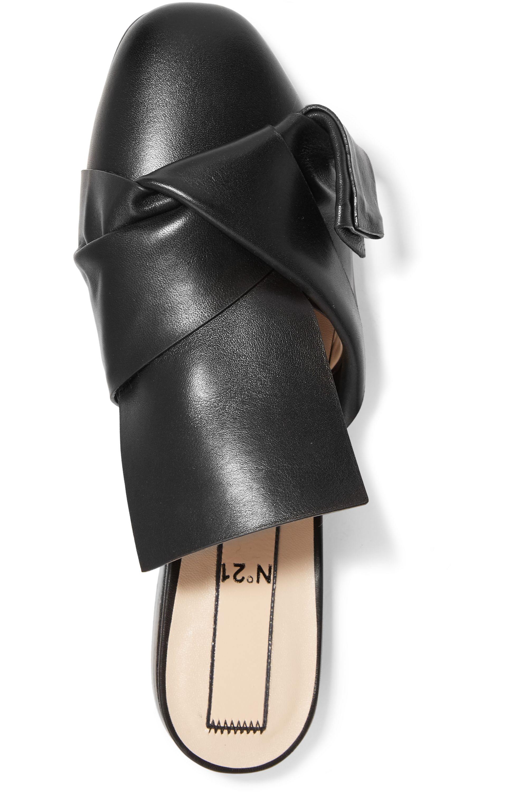 No. 21 Knotted leather slippers