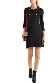 Burberry Silk-blend jersey mini dress