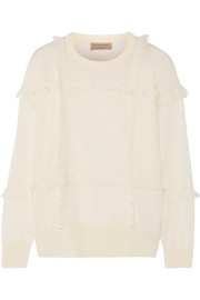Burberry Fringe-trimmed cashmere sweater