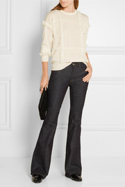 Burberry Brit Fringe-trimmed cashmere sweater