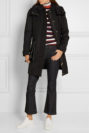 Burberry Brit Hooded cotton-blend canvas coat