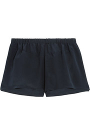 Jil washed-silk crepe de chine pajama shorts