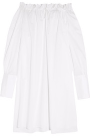 Daphne off-the-shoulder cotton-poplin nightdress