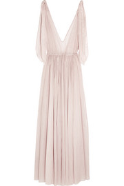 Three Graces London Nikiya cotton-mousseline maxi dress