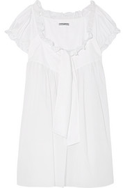 Highland Girl ruffled cotton-sateen nightdress