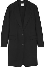 Stretch wool-twill coat