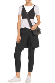 DKNY Cropped cotton and wool-blend gabardine pants