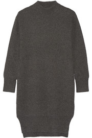 DKNY Ribbed cashmere sweater dress
