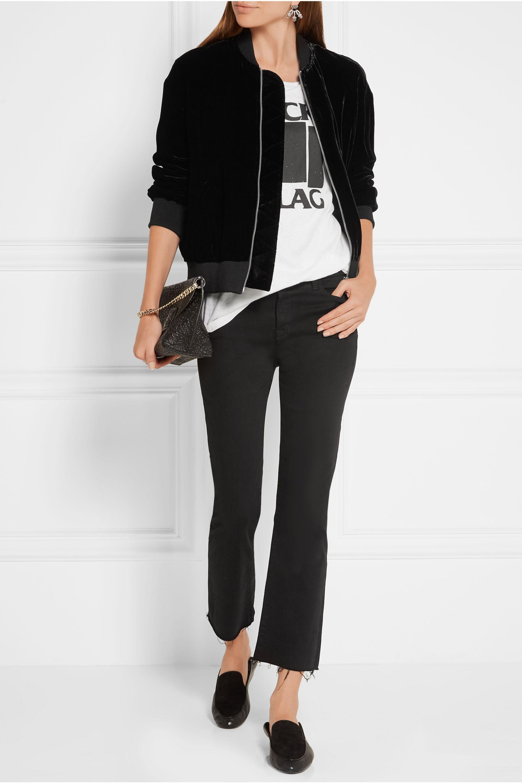 FRAME Velvet bomber jacket