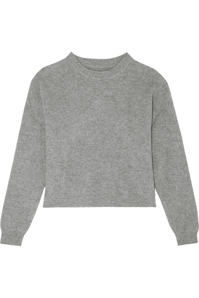FRAME. Cropped ribbed cashmere sweater