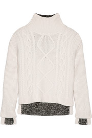 Ida wool and ribbed-knit sweater