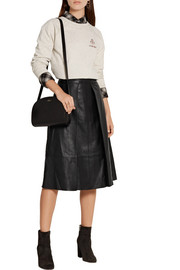 Rag & bone Rowe pleated leather skirt