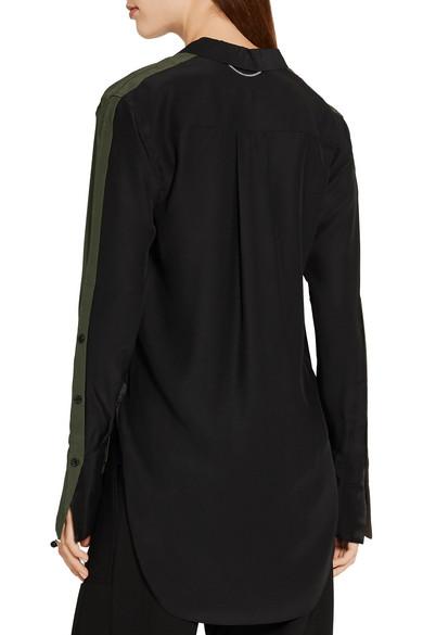 59637b8aa828a1 rag   bone. Leighton two-tone silk-charmeuse shirt.  105. Play. Zoom In