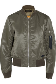 Rag & bone Manston satin-twill bomber jacket