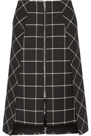 Rag & bone Sabina layered checked twill midi skirt