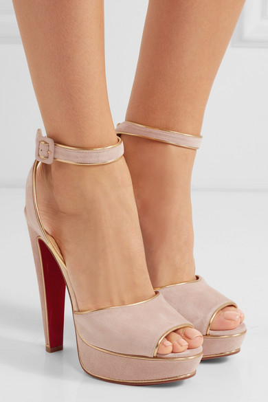 christian louboutin suede sandals