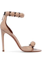 Studded patent-leather sandals