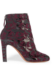 Alaïa Patent-leather and suede ankle boots