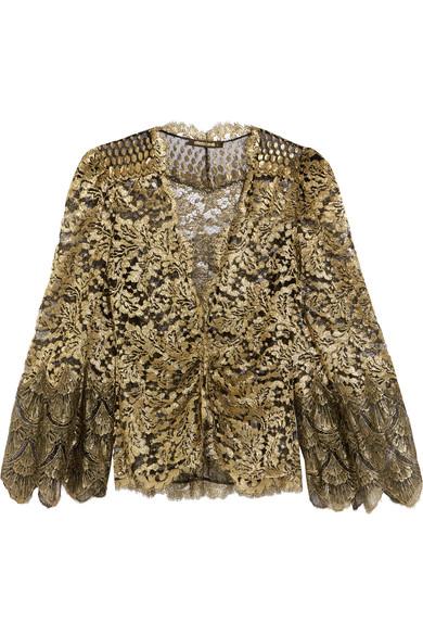 Roberto Cavalli - Metallic Lace Jacket - Gold