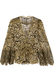 Metallic lace jacket