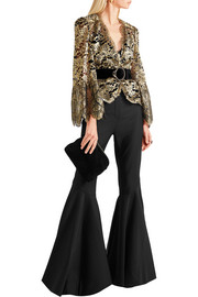 Roberto Cavalli Metallic lace jacket