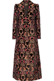 Flocked jacquard coat