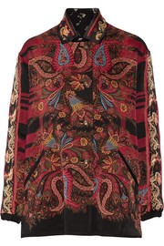 Etro Reversible embroidered printed twill jacket
