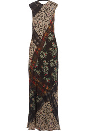 Etro Printed silk-georgette maxi dress