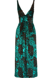 Etro Flocked tulle midi dress