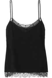 Etro Lace-trimmed silk-chiffon camisole
