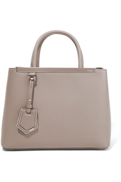 fendi female fendi 2jours small leather shopper beige