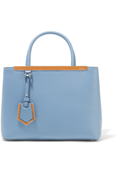 fendi female fendi 2jours petite leather shopper blue