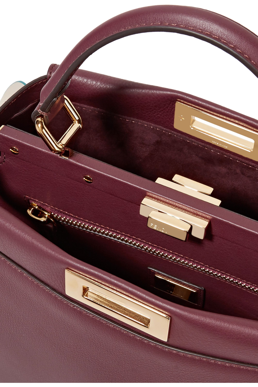 Fendi Peekaboo medium ruffle-trimmed leather tote