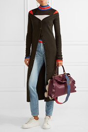 Fendi Peekaboo medium ruffle-trimmed leather tote