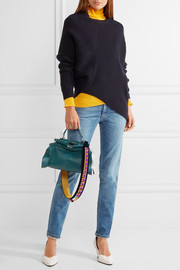 Fendi Peekaboo mini ruffle-trimmed leather shoulder bag