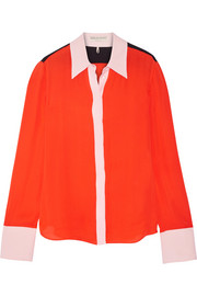 Emilio Pucci Color-block silk crepe de chine shirt