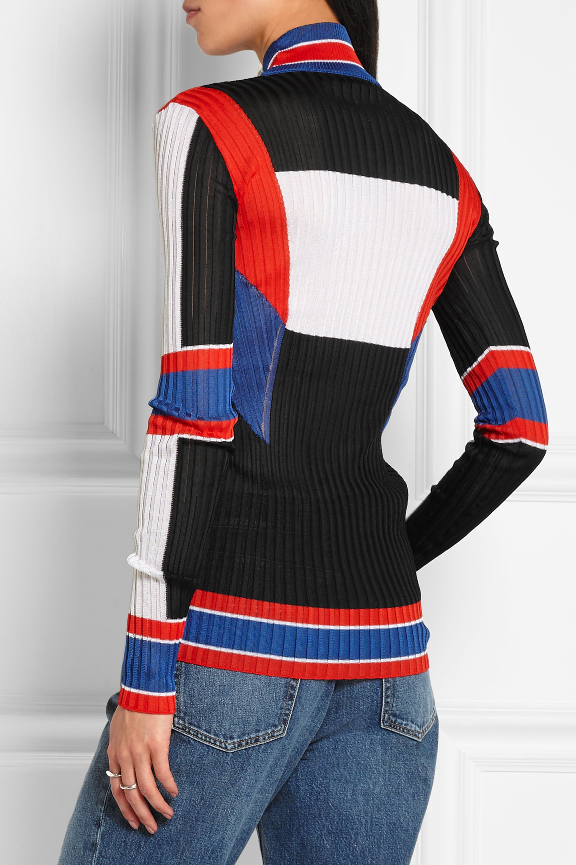 Emilio Pucci Color-block ribbed-knit sweater