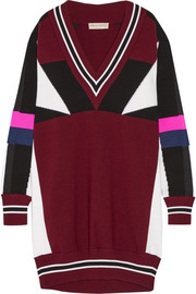 Emilio Pucci Oversized color-block merino wool sweater dress
