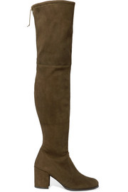 Tieland stretch-suede over-the-knee boots