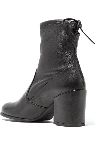 STUART WEITZMAN Leathers Shorty stretch-leather ankle boots