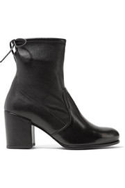 Shorty stretch-leather ankle boots