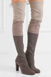 Troika stretch-suede over-the-knee boots