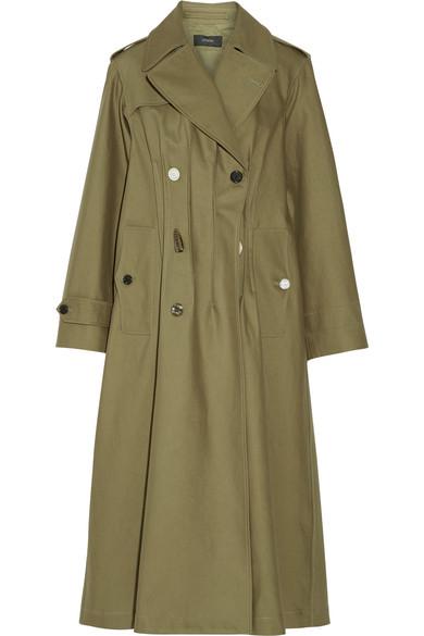 Joseph - Cotton-twill Trench Coat - Army green
